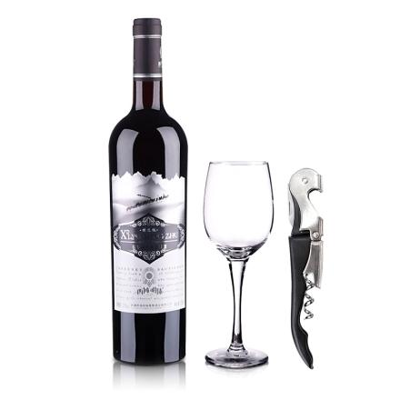 西域明珠赤霞珠干红葡萄酒特选级750ml+酒杯酒刀