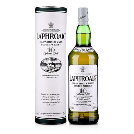 (清仓)40°拉弗格(利富)10年单一麦芽苏格兰威士忌1000ml