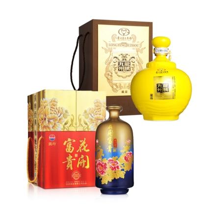 52°茅台集团龙腾九州藏品1500ml+52°国帅花开富贵酒(窖藏30)1500ml