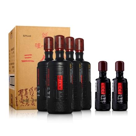 52°泸州老窖三人炫1000ml(4瓶装)+52°泸州老窖三人炫100ml(双瓶装)
