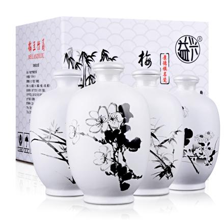 (清仓)52°梅兰竹菊纪念酒1199ml*4