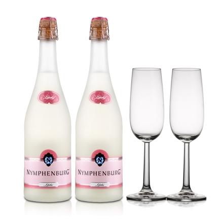 德国侬芬堡荔枝起泡葡萄酒750ml(双瓶装)+酒杯(双支)