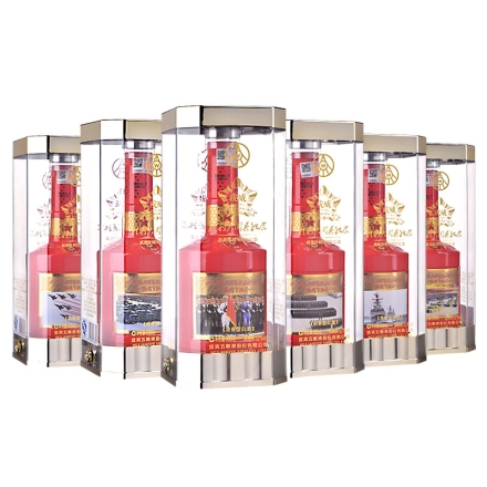 52°五粮液股份公司戎威胜利大阅兵系列酒500ml*6