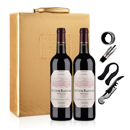 法国海蒂克梅多克干红葡萄酒(双支皮盒套装)750ml*2