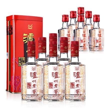 52°泸州老窖陈头曲铁盒装500ml(6瓶装)+38°泸州老窖陈头曲50ml(6瓶装)