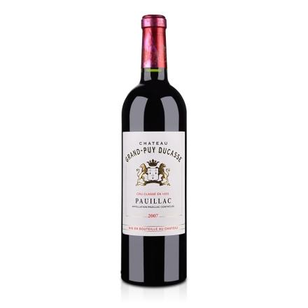 (列级庄·名庄正牌)法国都卡斯酒庄2007干红葡萄酒750ml(又名:杜嘉)