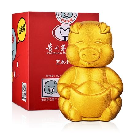 52°茅台集团艺术小酒猪宝宝酒375ml