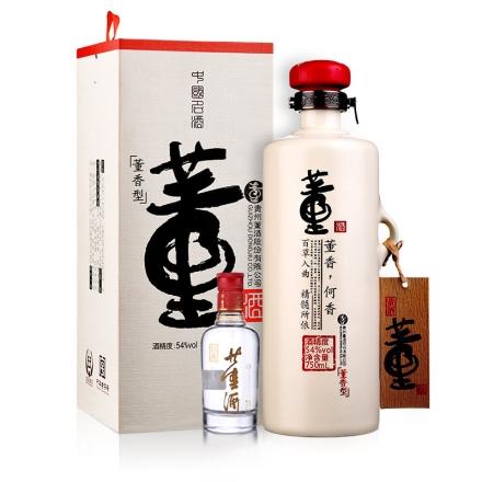54°董酒何香750ml+54°董酒红色经典100ml(乐享)