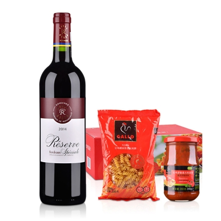 法国拉菲珍藏波尔多法定产区红葡萄酒+公鸡乐享装