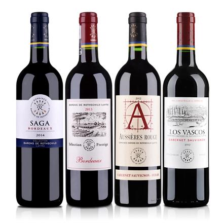 拉菲集团干红葡萄酒4支组合装