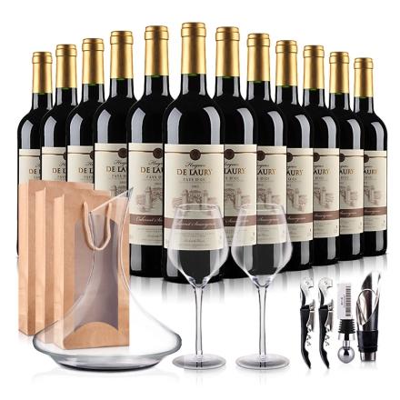 【畅销爆款】法国进口菈维干红葡萄酒豪华 大礼包