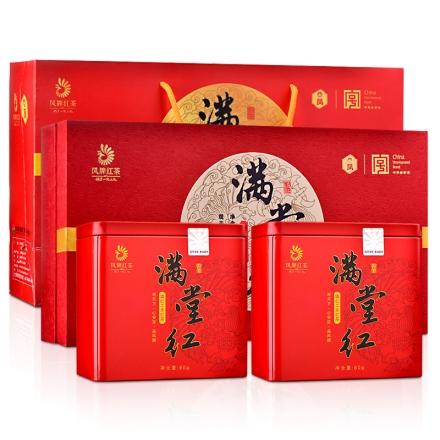 云南滇红凤牌红茶满堂红礼盒装60g*2