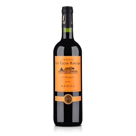 法国进口中级庄三宝利酒庄干红葡萄酒2009 750ml