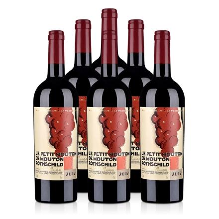 (列级庄·名庄·副牌)法国整箱红酒木桐酒庄2012干红葡萄酒750ml(6瓶装)