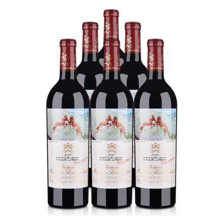 (列级庄·名庄·正牌)木桐酒庄2012干红葡萄酒750ml(6瓶装)