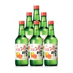 13°韩国真露西柚烧酒360ml(6瓶装)