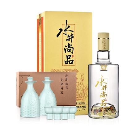 52°水井坊·水井尚品礼盒装500ml+陶瓷酒具(乐享)
