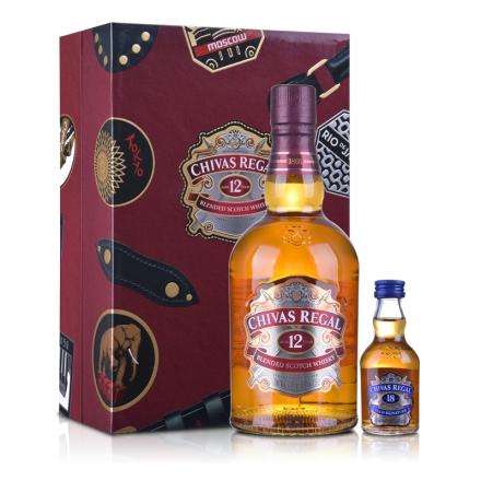 40°英国芝华士12年苏格兰威士忌礼盒700ml
