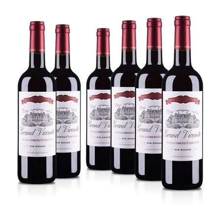 法国红酒套装维克特干红葡萄酒750ml(6瓶装)