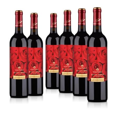 【超级秒杀日】整箱红酒7°通天柔红山葡萄甜酒750ml(6瓶装)