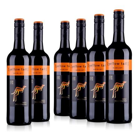 澳大利亚黄尾袋鼠梅洛红葡萄酒(6瓶装)