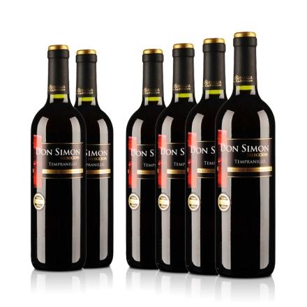 西班牙红酒整箱当西蒙精选干红葡萄酒750ml(6瓶装)