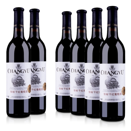 中国红酒整箱张裕干红葡萄酒750ml(6瓶装)