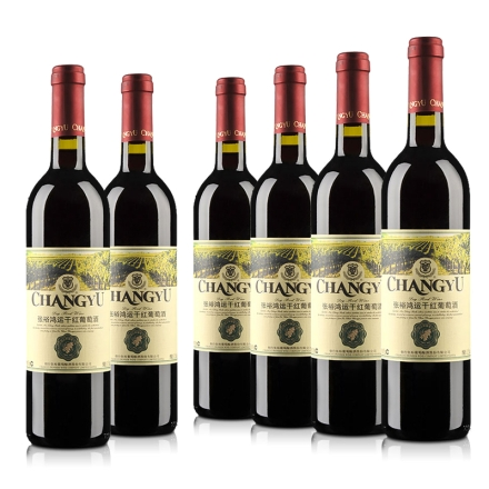 张裕鸿运干红葡萄酒750ml(6瓶装)