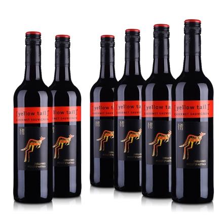 澳大利亚黄尾袋鼠加本力苏维翁红葡萄酒(6瓶装)