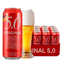 进口啤酒德国啤酒奥丁格5,0窖藏啤酒500ml(24听装)