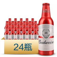 百威啤酒铝瓶355ml(24瓶装)