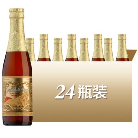 进口啤酒比利时林德曼桃子啤酒水蜜桃果味啤酒330ml*24瓶