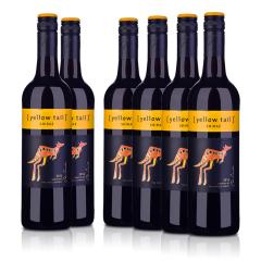 澳洲整箱红酒黄尾袋鼠西拉红葡萄酒(6瓶装)