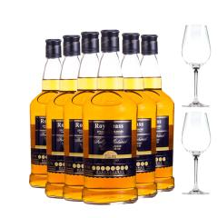 23°国产皇家贝斯美乐威士忌700ml*6(送两水晶杯)