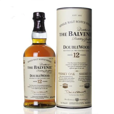 40°英国百富12年双桶单一麦芽威士忌700ml
