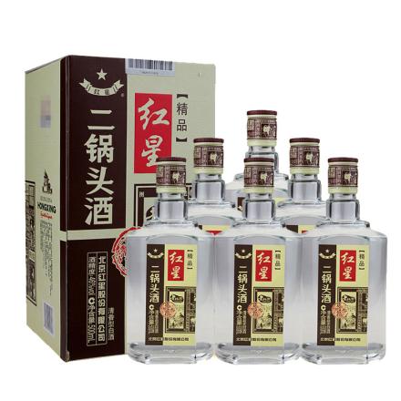 46°红星二锅头精品四合院500ml(6瓶装)