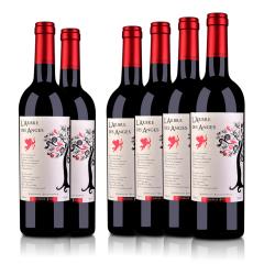 【周末狂欢惠】法国整箱红酒法国(原瓶进口)法圣古堡天使树干红葡萄酒750ml(6瓶装)