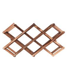 10支装木质折叠酒架