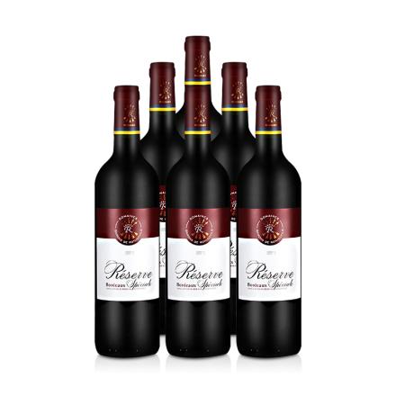 法国整箱红酒法国拉菲珍藏波尔多法定产区红葡萄酒(ASC正品行货)(6瓶装)