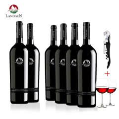 南山庄园红酒南锋西拉干红葡萄酒整箱(6瓶装)