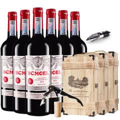 法国原瓶进口红酒柏翠莫埃尔AOC级品酒师干红葡萄酒红酒整箱木盒装 750ml*6