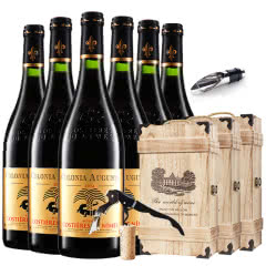 法国红酒(原瓶进口)AOC级新教皇堡干红葡萄酒红酒整箱木盒装750ml*6