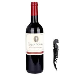 法国原瓶进口朗格巴顿干红葡萄酒单支750ml*1送海马刀