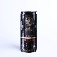 意大利原罐进口加伟利半甜起泡酒红葡萄酒红酒250ML*1