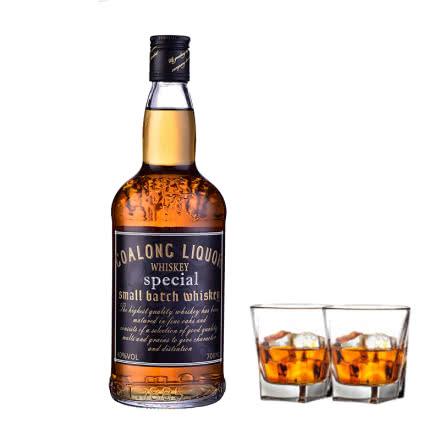【洋酒特卖】40°狮王威士忌洋酒700ml*1瓶送洋酒杯*2
