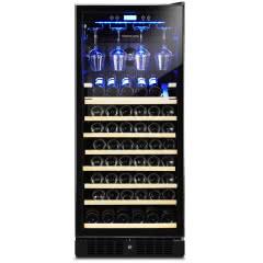 维诺卡夫CWC-350AJP 嵌入式压缩机恒温红酒柜 挂杯架+展示层架