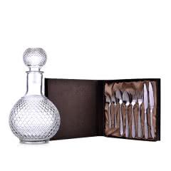 不锈钢西餐具八件套礼盒装+精美醒酒器1000ml