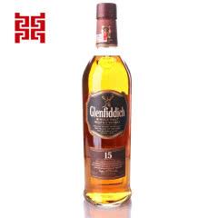 40°英国格兰菲迪15年单一纯麦威士忌700ml