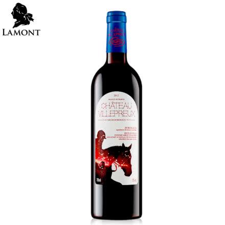 【拉蒙】法国进口红酒波尔多AOC维勒堡E标干红葡萄酒750ml