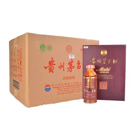 53° 贵州茅台 世纪经典 木质礼盒 500ml*6 2017年 整箱